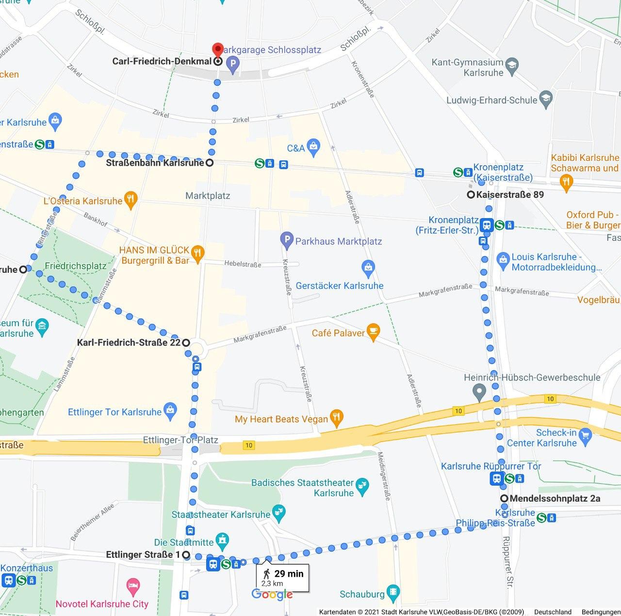 Route Demo 18.09. Zeit für Legalisierung, Demoroute Karlsruhe, Demonstration